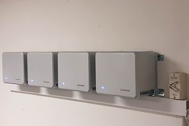 enphase solar batteries installed